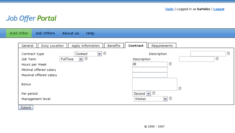 NAZOU » Methods » Methods for acquisition » Job Offer Portal (tool ...